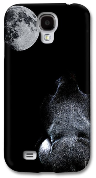 Ape Digital Art Galaxy S4 Cases - The Ape and The Moon . Photoart . R7917 Galaxy S4 Case by Wingsdomain Art and Photography