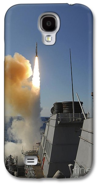 Aft Galaxy S4 Cases - The Arleigh Burke-class Guided Missile Galaxy S4 Case by Stocktrek Images