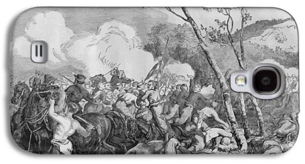 Bulls Digital Art Galaxy S4 Cases - The Battle of Bull Run Galaxy S4 Case by War Is Hell Store