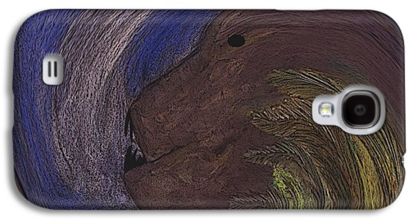 Best Sellers -  - Abstract Digital Pastels Galaxy S4 Cases - The Beast Galaxy S4 Case by Melvin Moon