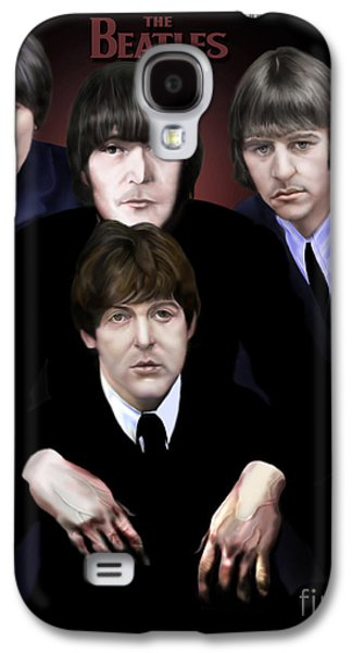 Ringo Starr Paintings Galaxy S4 Cases - The Beatles Galaxy S4 Case by Reggie Duffie