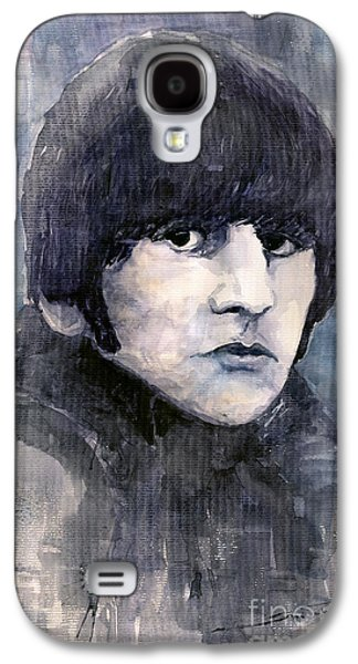 Beatles Galaxy S4 Cases - The Beatles Ringo Starr Galaxy S4 Case by Yuriy  Shevchuk