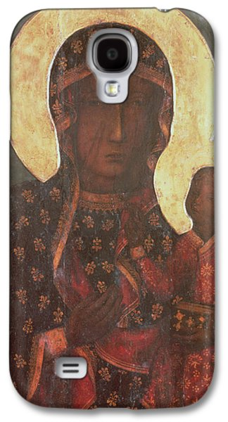 Old Masters - Galaxy S4 Cases - The Black Madonna of Jasna Gora Galaxy S4 Case by Russian School