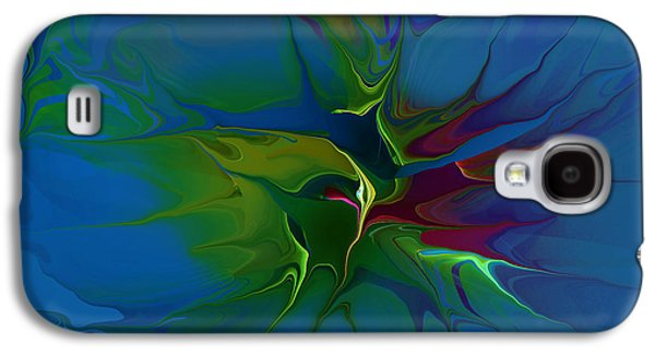 Abstract Digital Mixed Media Galaxy S4 Cases - The Blast Galaxy S4 Case by Deborah Benoit