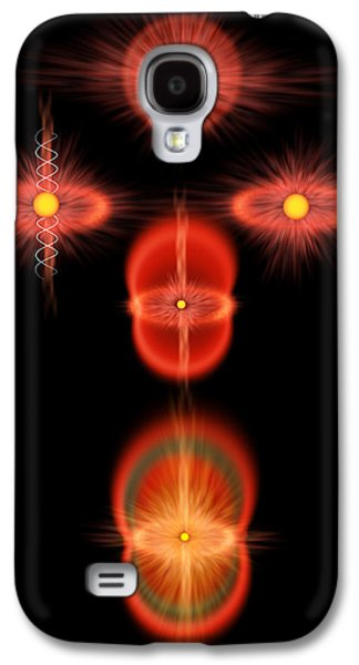 Cosmos Paintings Galaxy S4 Cases - The Cats Eye Nebula Galaxy S4 Case by Don Dixon