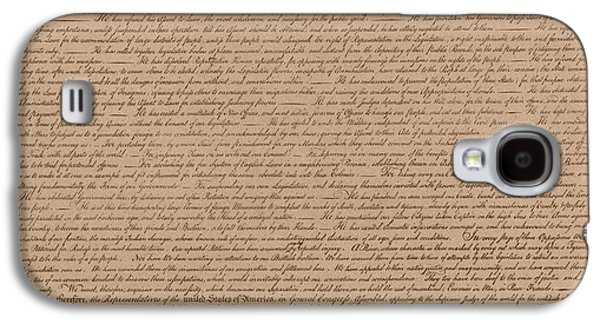 4th July Galaxy S4 Cases - The Declaration of Independence Galaxy S4 Case by War Is Hell Store