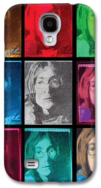 Best Sellers -  - Abstract Digital Pastels Galaxy S4 Cases - The Essence of Light- John Lennon Galaxy S4 Case by Jimi Bush