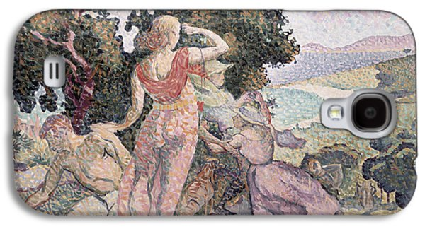 The Excursionists Galaxy S4 Case by Henri-Edmond Cross