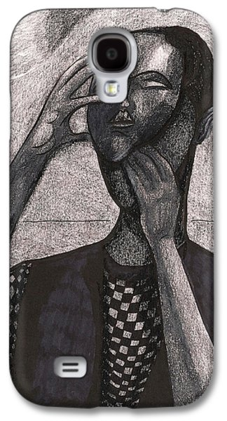 Exchange Mixed Media Galaxy S4 Cases - The Face Behind The Mask Galaxy S4 Case by Al Goldfarb