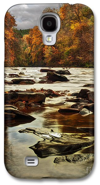 Autumn Leaf On Water Galaxy S4 Cases - The Fall on the River Avon  Galaxy S4 Case by John Farnan
