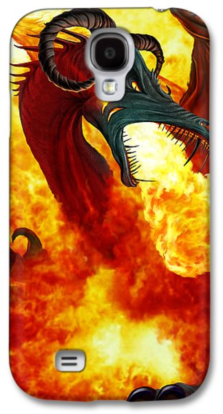Spit Galaxy S4 Cases - The Fire Dragon Galaxy S4 Case by The Dragon Chronicles - Garry Wa