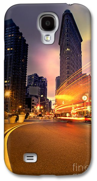 Cold Galaxy S4 Cases - The Flat Iron Building with some magic happening Galaxy S4 Case by John Farnan