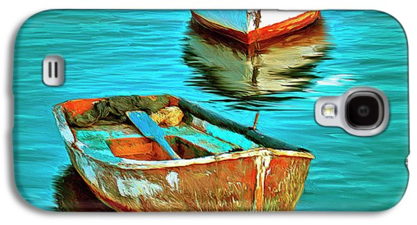 Lake Como Paintings Galaxy S4 Cases - The Fleet Galaxy S4 Case by Dominic Piperata