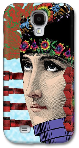 Digital Collage Galaxy S4 Cases - The Flow of Memory Galaxy S4 Case by Eric Edelman
