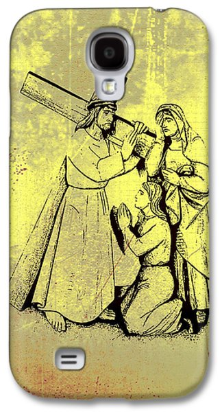 Mother Mary Digital Art Galaxy S4 Cases - The Fourth Station of the Cross - Jesus Meets his Mother Galaxy S4 Case by Bill Cannon