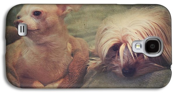 Dogs Digital Galaxy S4 Cases - The Girls Galaxy S4 Case by Laurie Search