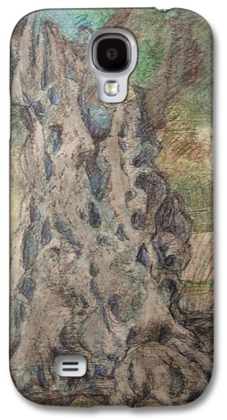 Ancient Pastels Galaxy S4 Cases - The Grand Daddy Tree Galaxy S4 Case by Diane montana Jansson