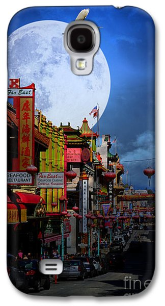 Snowy Night Night Galaxy S4 Cases - The Great White Egret of Chinatown . 7D7172 Galaxy S4 Case by Wingsdomain Art and Photography