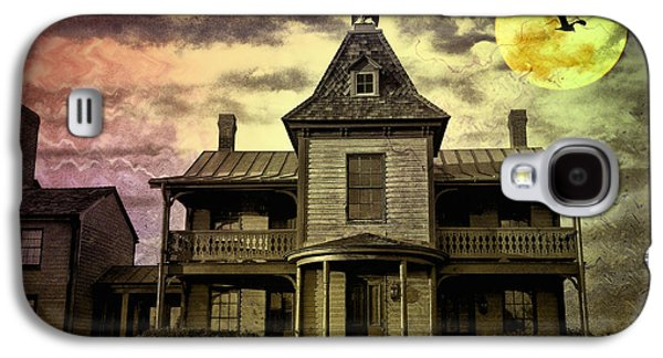 Haunted Digital Art Galaxy S4 Cases - The Haunted Mansion Galaxy S4 Case by Bill Cannon