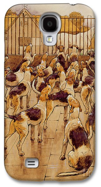 The Hounds Began Suddenly To Howl In Chorus  Galaxy S4 Case by Cecil Charles Windsor Aldin