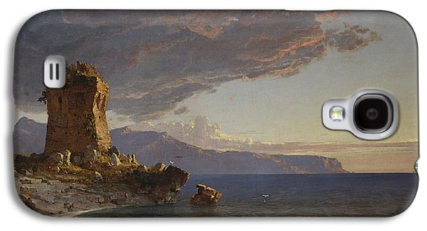 Beach Landscape Galaxy S4 Cases - The Isle of Capri Galaxy S4 Case by Jasper Francis Cropsey