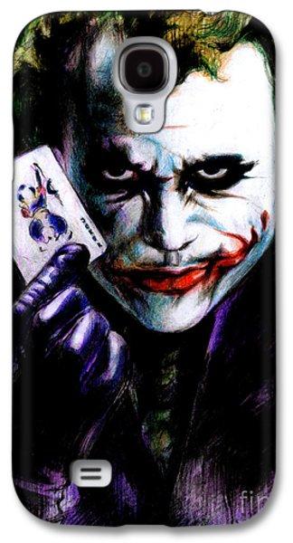 Green Drawings Galaxy S4 Cases - The Joker Galaxy S4 Case by Lin Petershagen