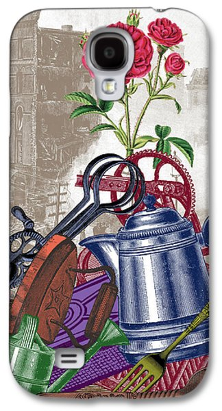 Digital Collage Galaxy S4 Cases - The Land of Lost Ladders Galaxy S4 Case by Eric Edelman