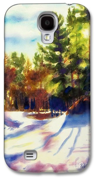 The Hills Mixed Media Galaxy S4 Cases - The Last Traces II Galaxy S4 Case by Kathy Braud