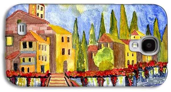 The Little Village Galaxy S4 Case by Connie Valasco