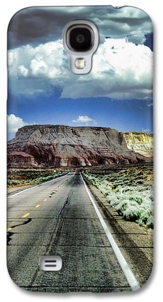 Long Street Digital Art Galaxy S4 Cases - The Long and Lonely Road Galaxy S4 Case by Ellen Heaverlo