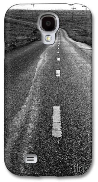 Philosophical Galaxy S4 Cases - The Long Road Home . 7D9898 . Black and White Galaxy S4 Case by Wingsdomain Art and Photography