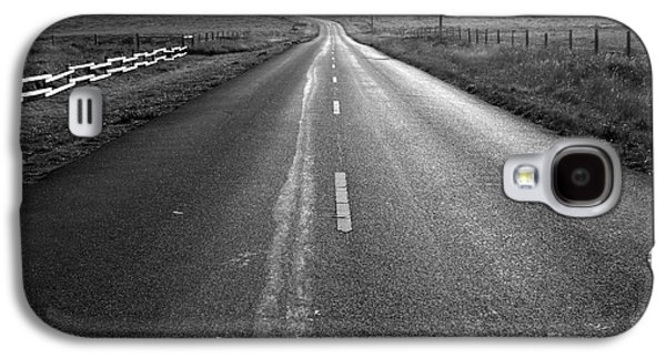 Philosophical Galaxy S4 Cases - The Long Road Home . 7D9903 . Black and White Galaxy S4 Case by Wingsdomain Art and Photography