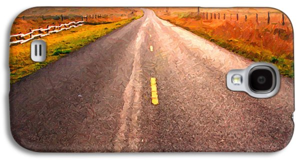 Philosophical Galaxy S4 Cases - The Long Road Home . Painterly Style Galaxy S4 Case by Wingsdomain Art and Photography