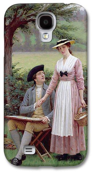 The Lord Of Burleigh Galaxy S4 Case by Edmund Blair Leighton