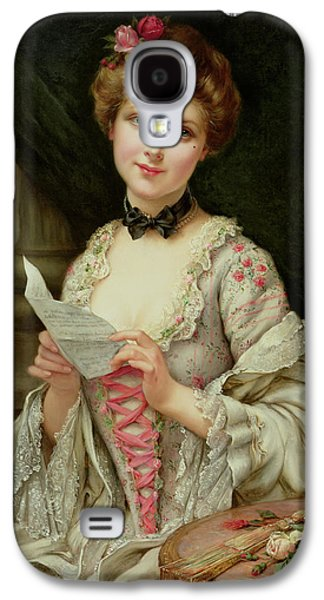 Beauty Mark Galaxy S4 Cases - The Love Letter Galaxy S4 Case by Francois Martin-Kayel