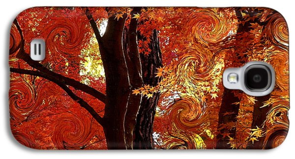 The Magic Of Autumn - Digital Abstract Galaxy S4 Case by Carol Groenen