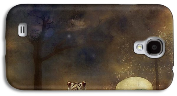 Surreal Landscape Digital Art Galaxy S4 Cases - The magical of life Galaxy S4 Case by Martine Roch