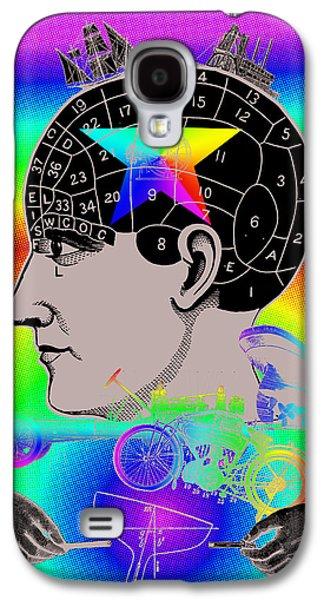 Digital Collage Galaxy S4 Cases - The Main Idea Galaxy S4 Case by Eric Edelman