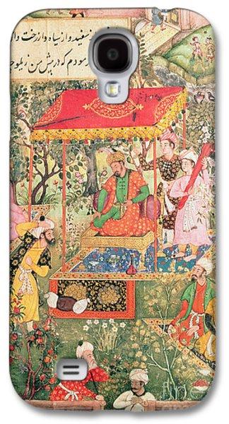 Receive Paintings Galaxy S4 Cases - The Mogul Emperor Babur Galaxy S4 Case by Indian School