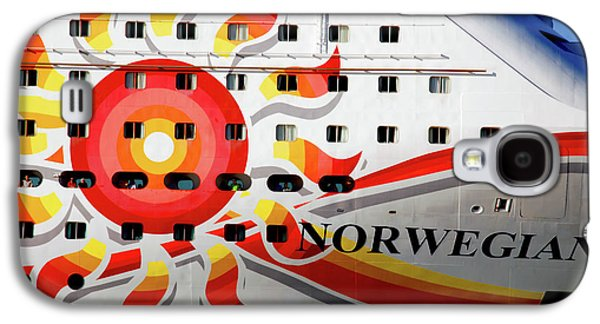 Cabin Window Galaxy S4 Cases - The Norwegian Sun Bow Galaxy S4 Case by Susanne Van Hulst