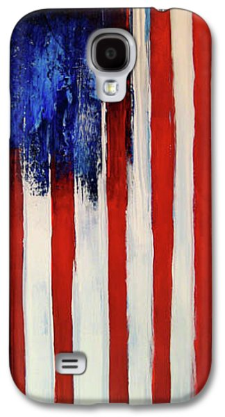 4th July Mixed Media Galaxy S4 Cases - The Ogden Flag Galaxy S4 Case by Charles Jos Biviano