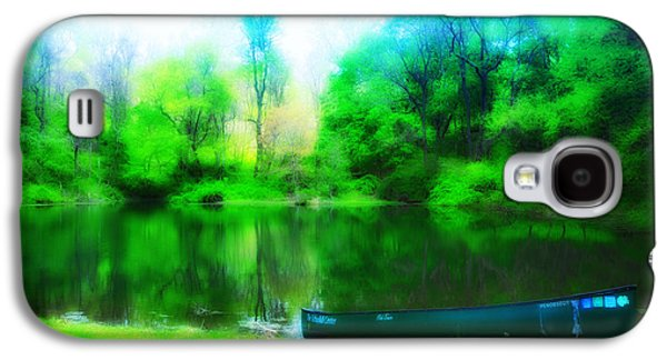 Nature Center Galaxy S4 Cases - The Old Fishin Hole Galaxy S4 Case by Bill Cannon