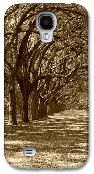 Old Roadway Galaxy S4 Cases - The Old South Series in sepia Galaxy S4 Case by Suzanne Gaff