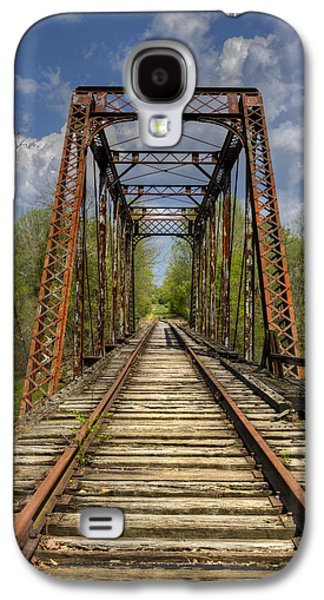 Caboose Photographs Galaxy S4 Cases - The Old Trestle Galaxy S4 Case by Debra and Dave Vanderlaan