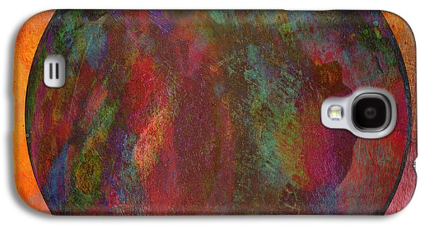Abstract Digital Mixed Media Galaxy S4 Cases - The Orb Galaxy S4 Case by David Gordon