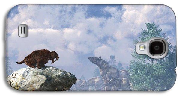 The Paraceratherium Migration Galaxy S4 Case by Daniel Eskridge