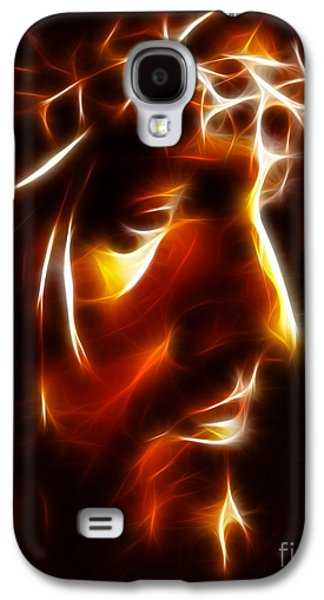 Face Mixed Media Galaxy S4 Cases - The Passion of Christ Galaxy S4 Case by Pamela Johnson