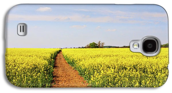 Crops Galaxy S4 Cases - The Path to Bosworth Field Galaxy S4 Case by John Edwards