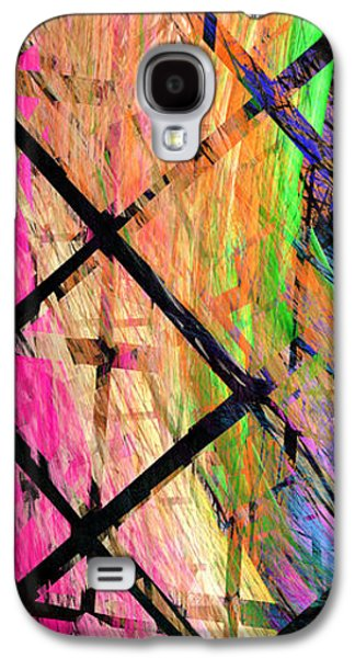 Abstract Digital Digital Galaxy S4 Cases - The Powers That Bind Us Panel Galaxy S4 Case by Andee Design
