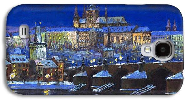 Light Pastels Galaxy S4 Cases - The Prague Panorama Galaxy S4 Case by Yuriy  Shevchuk